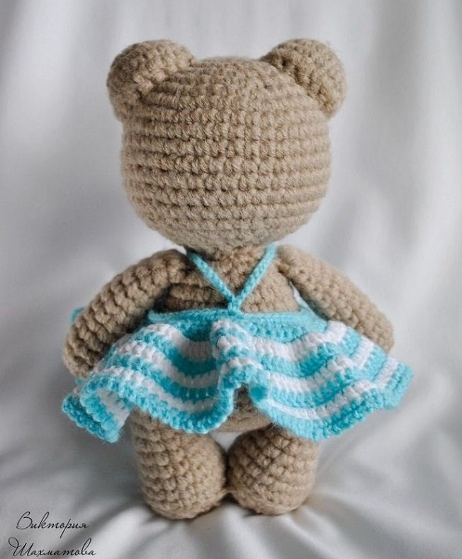 Мишка амигуруми схема вязания