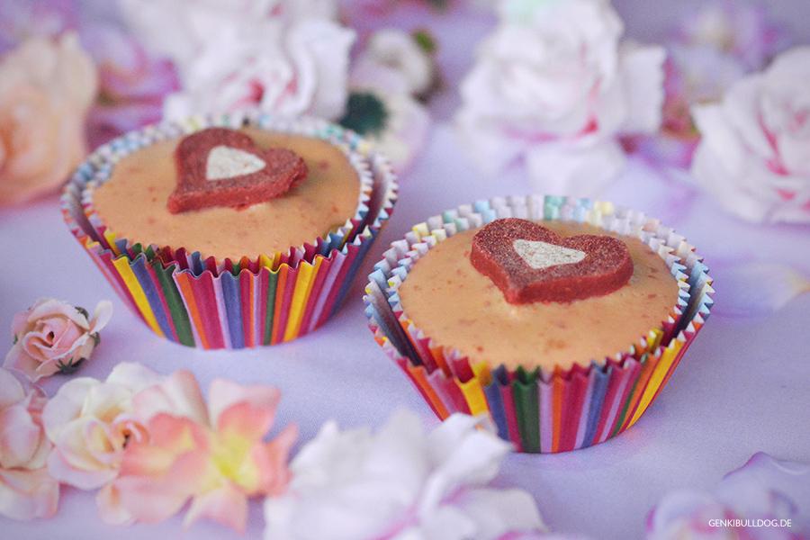 Rezept: Pfirsich-Joghurt Muffins für Hunde backen