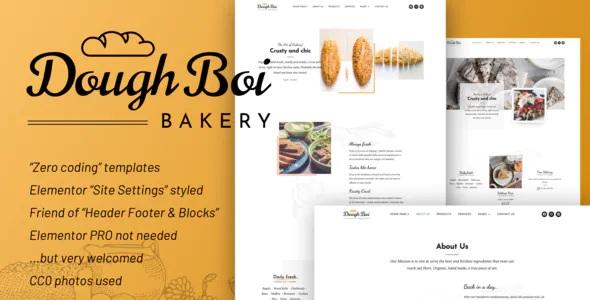 Best Bakery Cakery Elementor Template Kit