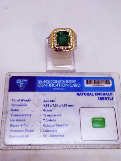 zambrud colombia kristal tersedia di borneo artshop