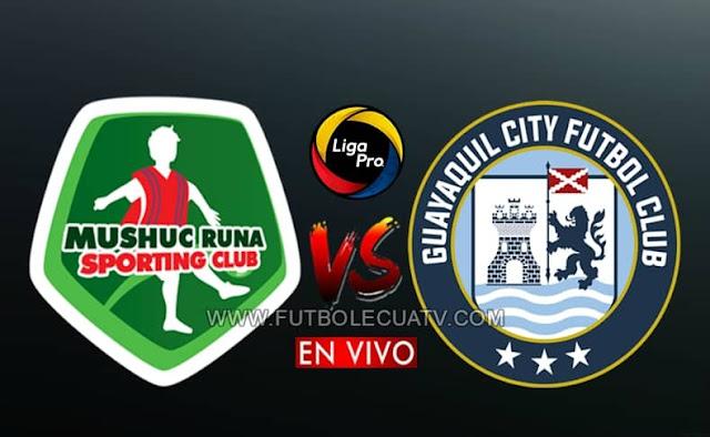 Mushuc Runa se enfrentan al Guayaquil City en vivo desde las 14h45 horario local por la jornada 14 de la Liga Pro, siendo emitido por GolTV Ecuador a jugarse en el estadio Coop. Ahorro y Crédito. Con arbitraje principal de Jaime Sánchez.