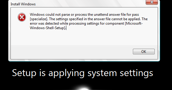 Free Tech Answers: SCCM Error: Windows could not parse or