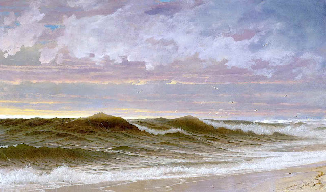 William Trost Richards 1869, waves at the beach