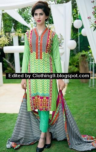 Satrangi colorful lawn collection 2015