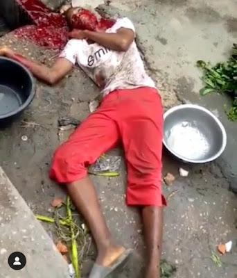 PHOTOS: Boy Selling Yam And Plantain For His Mother, Shot Dead By Cult Members