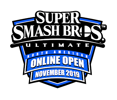 Super Smash Bros. Ultimate North American Online Open November 2019 logo Battlefy Nintendo blue