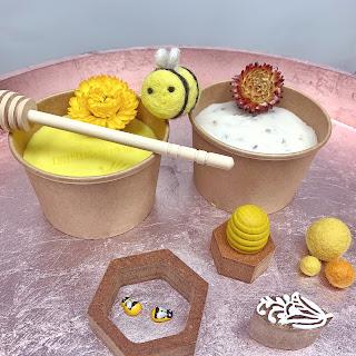 Honey Bee Playdough Play Tray set
