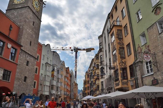 Na wieży widokowej w centrum Innsbrucka