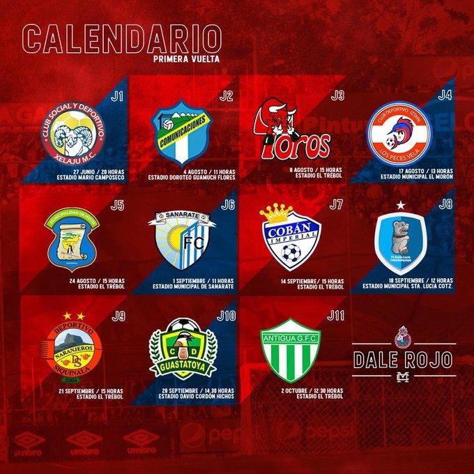 Calendario Primera Division Futbol Guatemala 2019.Calendario De Municipal Para La Primera Vuelta Del Torneo