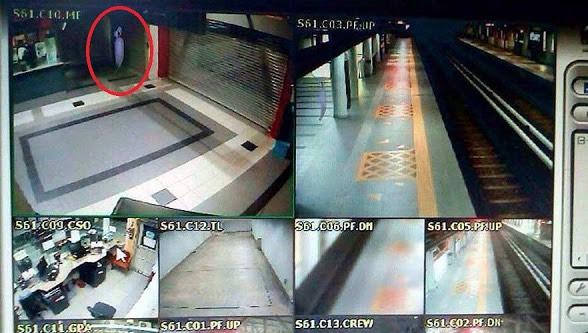 'Pocong' Berjaya Dirakam CCTV Di Stesen MRT