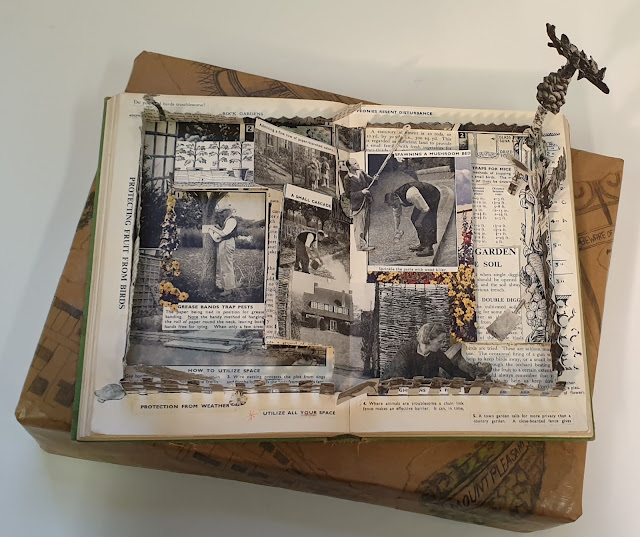 Deconstructed book arts by Paeony Lewis. A practical guide to gardening behind the post-war fence.