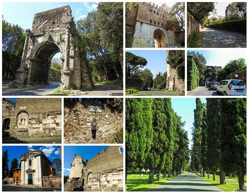 Via Appia da Roma antiga - Diário de Bordo: 3 dias em Roma