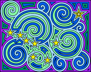 Alaska flag inspired coloring page- Ursa Major and the North Star