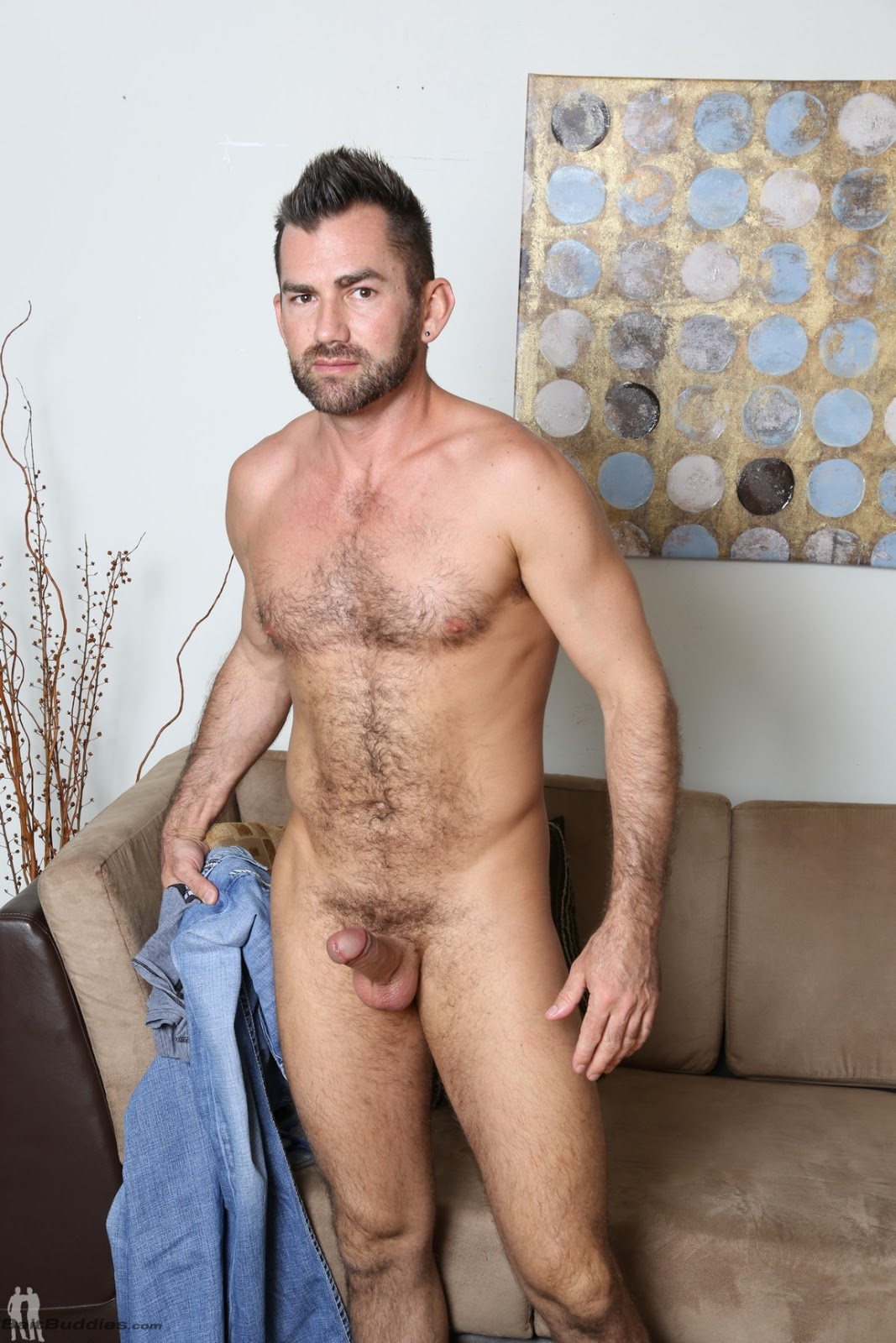 Hairy And Masculine Straight Stud Jake Gets Nude At Bait -5891