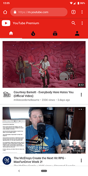 youtube desktop dashboard