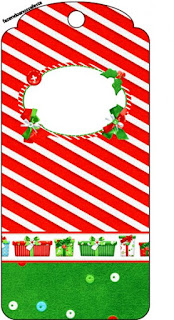 Christmas in Stripes, Free Printable Bookmarks.