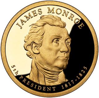 James Monroe Presidential Dollar Coin