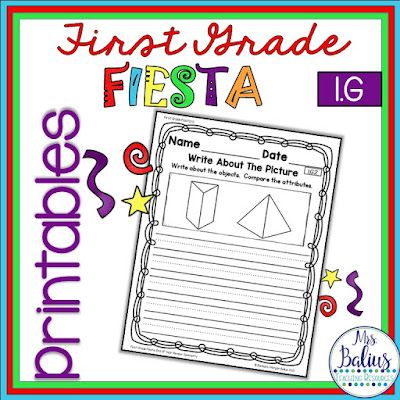 First grade math review student sheets