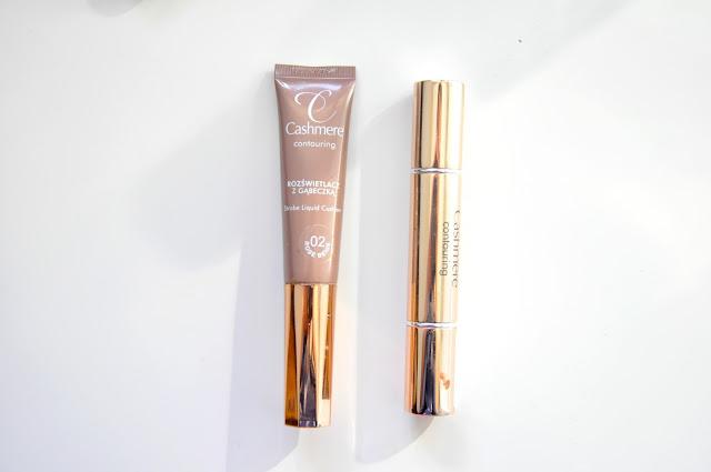 płynny rozświetlacz dax cosmetics cashmere contouring liquid strobe cushion i kredka do konturowania contouring duo stick
