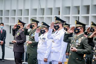 Bupati Jember Ikuti Upacara Peringatan HUT ke 76 TNI Secara Virtual