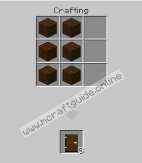 How To Make Dark Oak Door In Minecraft