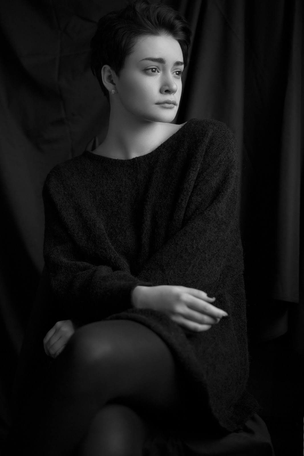 Черно-белый фотопортрет