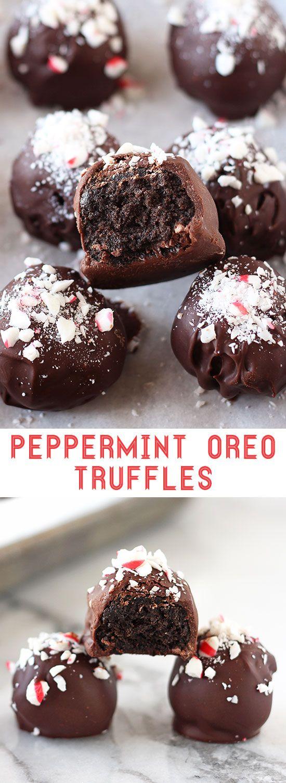 Peppermint Oreo Truffles #pappermint #Oreo #oreocookies #cookiesrecipe #Italiancookies #Americancookies #Truffles #Chococookies