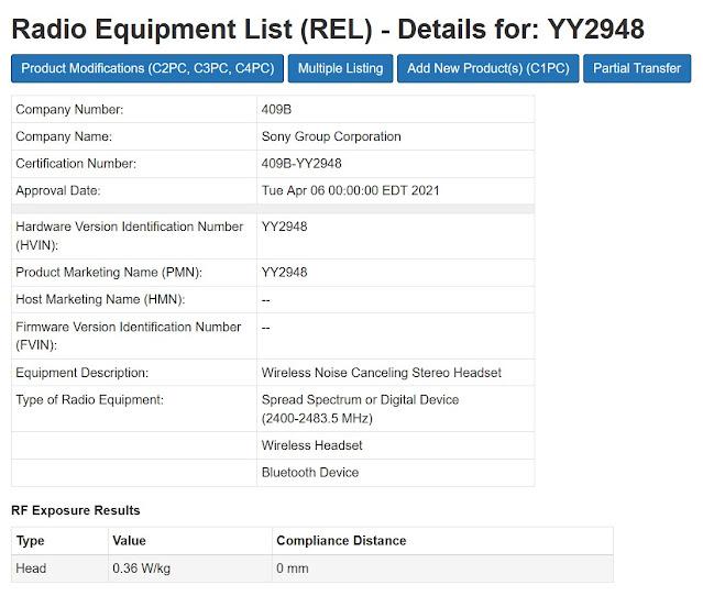 Sony YY2948 WF-1000XM4