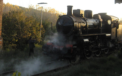 Steam train treno natura San Giovanni d'Asso