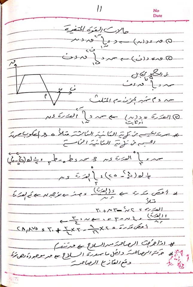 مراجعة ديناميكا قوية لثالثة ثانوي من اعداد مستر/ مصطفى بيومي 11
