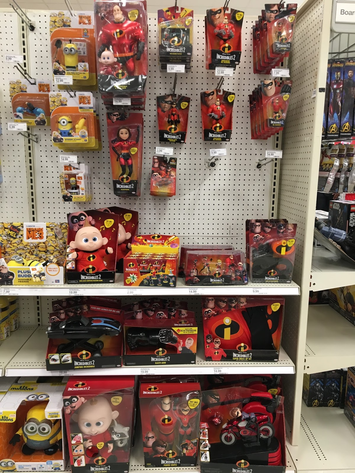 pixar incredibles 2 toys release date on shelf