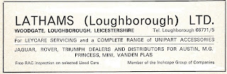 Lathams (Loughborough) Ltd 1976 advert - Woodgate, Loughborough