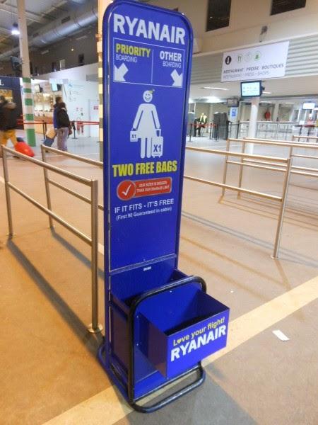 Il dispositivo misura-bagagli Ryanair