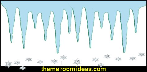 Icicles Stencil - Frozen Stencil - Icicle Stencil  Frozen theme Elsa bedroom - Elsa theme bedroom ideas - princess Disney Frozen - Winter theme decorations -  Frozen room decorating ideas - Disney Frozen themed decor - Queen Elsa Frozen theme bedroom decor  - Disney Frozen bedroom decorating ideas - snow queen bedroom ideas