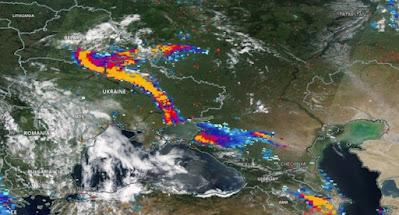 Над Украиной пронеслась пыльная буря