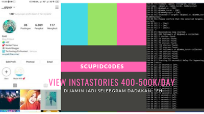 Menjalankan Script Masslooking InstaStories Hyperloop via Android (Termux)