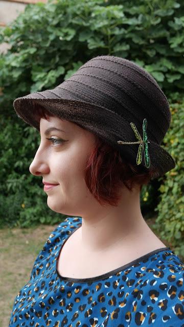 chapeau années 30 libellule