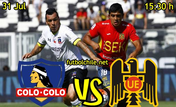 ver stream youtube movil android ios iphone table ipad windows mac linux resultado en vivo, online: Colo Colo vs Unión Española