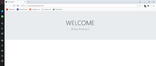 Menggunakan Bootstrap 4 Jumbotron