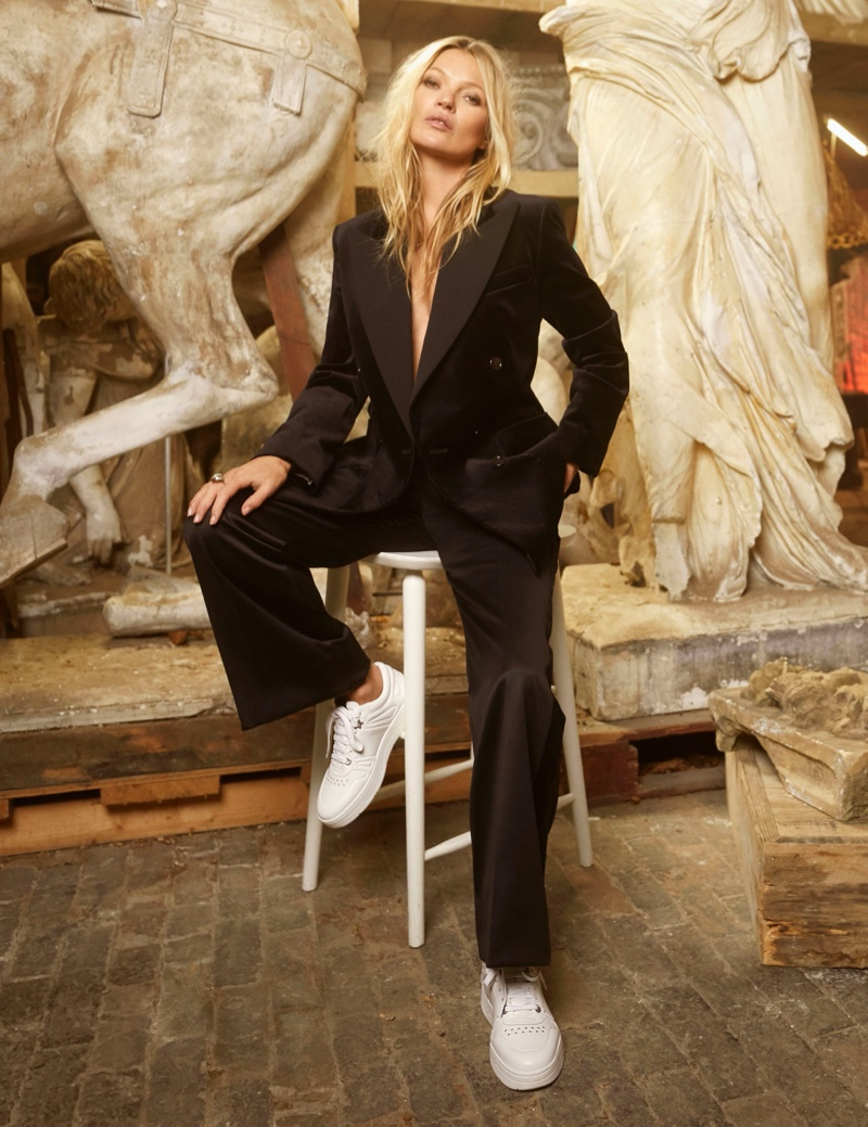 Kate Moss Gets Glam in Jimmy Choo Pre-Fall 2020 Campaign