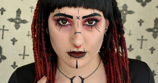 Cyber goth inspired make-up look