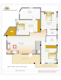 3 Story House - First Floor Plan- 327 Sq M (3521 Sq. Ft.) - February 2012