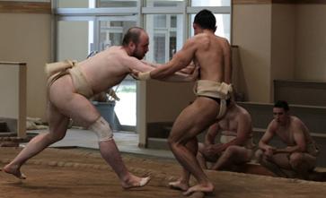 Foreigner sumo wrestling in Japan
