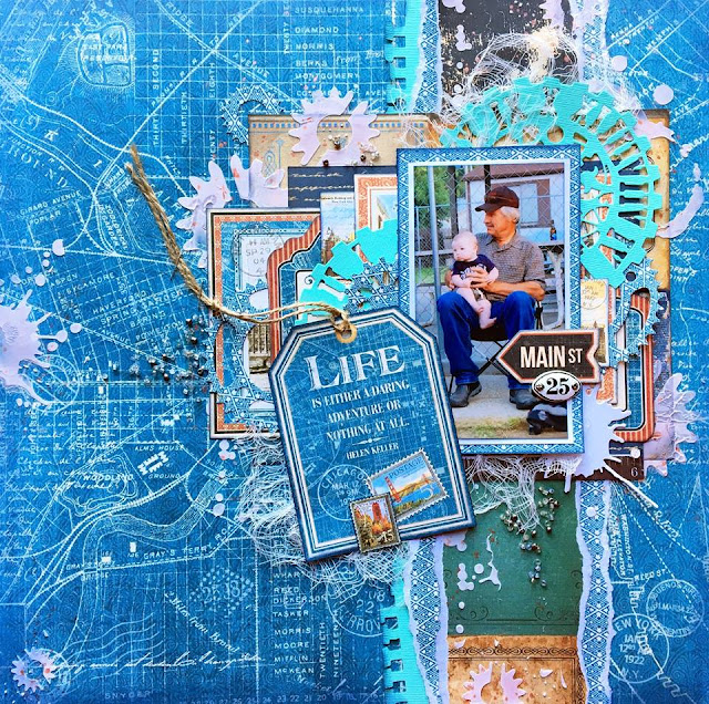 Layout by Jennifer Neuber Walth, created with the April Scraps of Darkness kit
