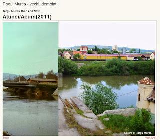 Vechiul pod peste Mures, Tirgu-Mures