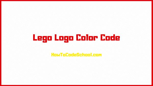 Lego Logo Color Code