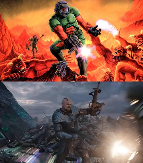 Referência do Doom no Thor Ragnarok