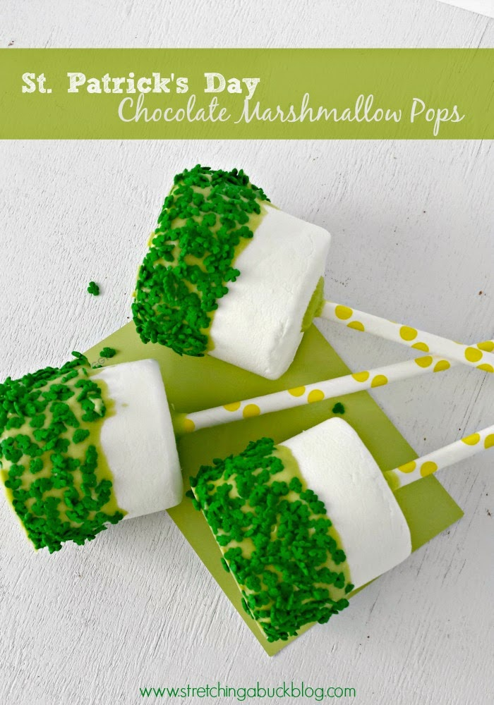 St. Patrick's Day Chocolate Marshmallow Pops