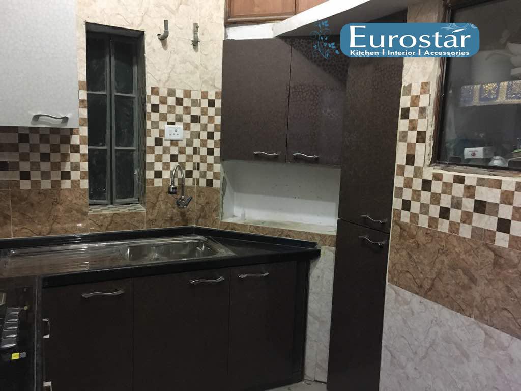 Modular Kitchen Eurostar Kitchens Recently Completed Project Pvc Modular Kitchen Chandran