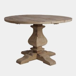 Mesa Comedor Redonda Natural Viejo, mesa rustica redonda, mesa natural redonda